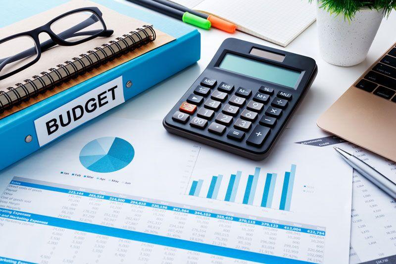 business budget paperwork