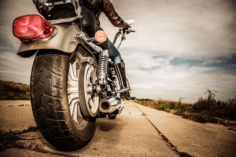 motorcycle rider on the open road