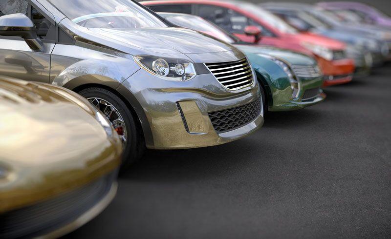 car rental lot