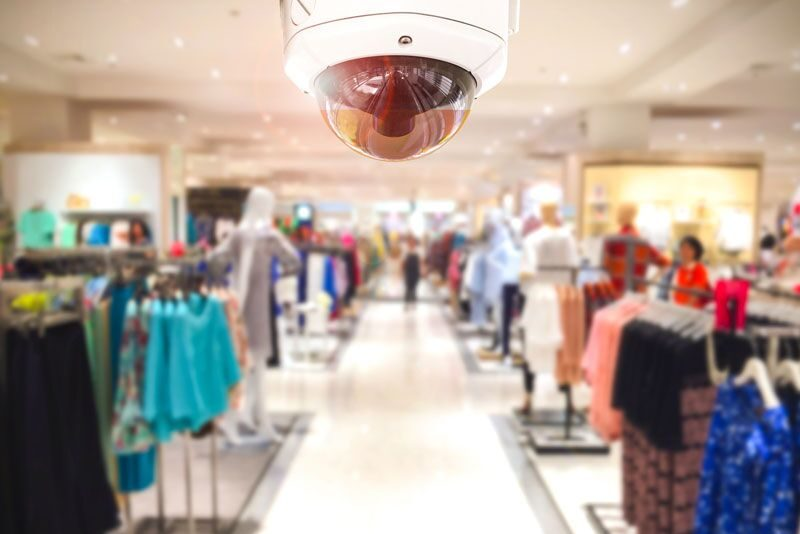security camera in store